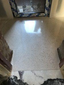 Extreme terrazzo floor polishing